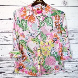 Lilly Pulitzer nosey posey button down shirt